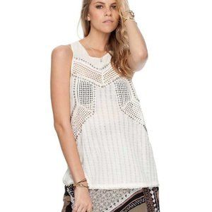 Free People Get To The Point Pointelle Top S US